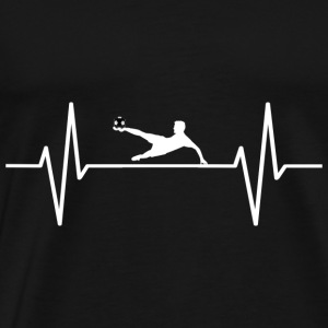 My heart beats for football! present - Men's Premium T-Shirt