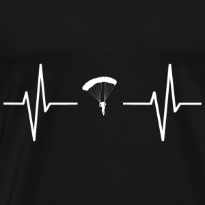 My heart beats for parachutes! present - Men's Premium T-Shirt
