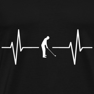My heart beats for golf! present - Men's Premium T-Shirt