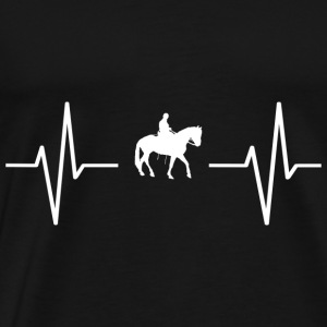 My heart beats for horses! present - Men's Premium T-Shirt