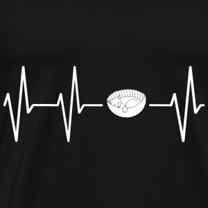 My heart beats for cats! present - Men's Premium T-Shirt