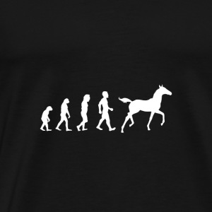Evolution - Gift - Horse - Horse - Rider - Men's Premium T-Shirt