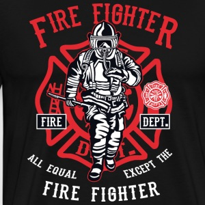 Firefighter. Fireman in action! - Men's Premium T-Shirt