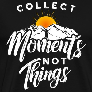 Collect moments not things - Reisen Abenteuer - Männer Premium T-Shirt