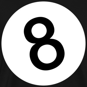 8 - Eight Ball - Black Ball - Männer Premium T-Shirt
