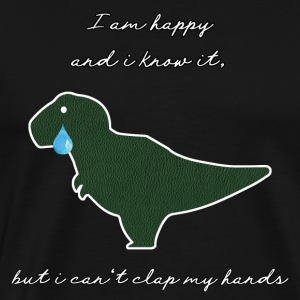 Sad Dinosaur T-Rex sad and happy - Men's Premium T-Shirt