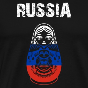 Nation-Design Ryssland Matryoshka - Premium-T-shirt herr