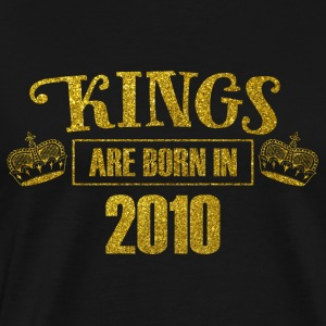 kings are born in 2010 - Geburtstag Koenig Gold - Männer Premium T-Shirt