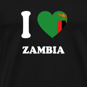 i love home gift country ZAMBIA - Men's Premium T-Shirt