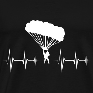 Heartbeat - heart rate paraglide gift - Men's Premium T-Shirt