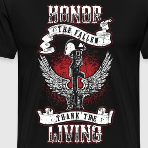 Hedre de falne! Soldier! Veteran! Patriot! - Premium T-skjorte for menn