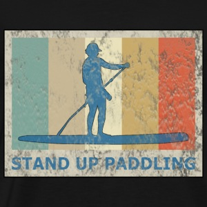 Retro Vintage Style Stand Up Paddling Paddle