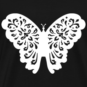 Butterfly Illustration White - Men's Premium T-Shirt