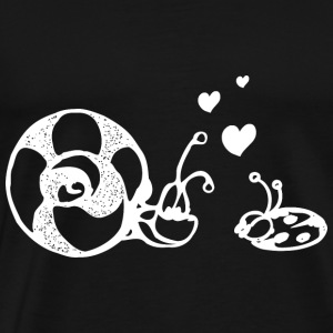 in love snail and ladybug pair - Men's Premium T-Shirt