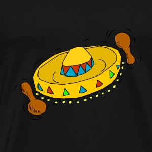 Sombrero with rattles illustration