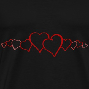 Hearts on Valendienstag - Men's Premium T-Shirt