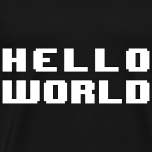 Hello World - Premium T-skjorte for menn