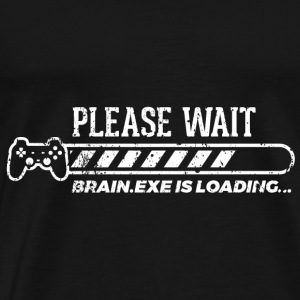Grappige Gamer Gaming Shirt Please Wait - Mannen Premium T-shirt