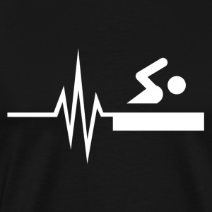 My heart beats for swimming - water sports fit - Men's Premium T-Shirt