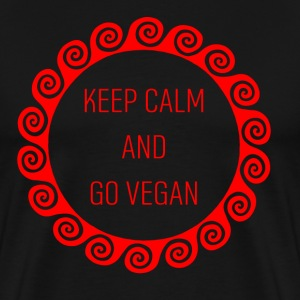 keep calm and go vegan r - Men's Premium T-Shirt