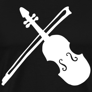 Violin with bow gift for musician - Men's Premium T-Shirt