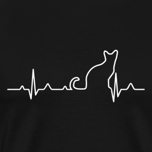 Cat Heartbeat - Cat hjärtslag - Premium-T-shirt herr