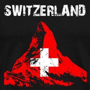 Nation-Design Switzerland Matterhorn - Männer Premium T-Shirt