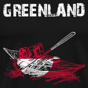 Nation-Design Greenland Kayak EN - Männer Premium T-Shirt