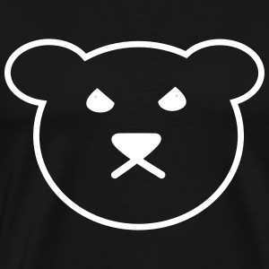 Teddy | Bear | Teddy bear Anger evil - Men's Premium T-Shirt