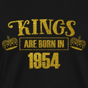 kings are born in 1954 - Geburtstag Koenig Gold - Männer Premium T-Shirt