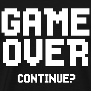 GAME OVER! - Premium T-skjorte for menn