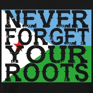 never forget roots home Djibouti - Men's Premium T-Shirt