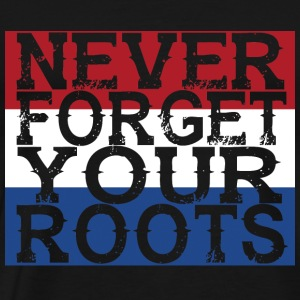 never forget roots home holland - Männer Premium T-Shirt