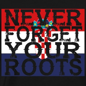 never forget roots home Kroatien - Männer Premium T-Shirt