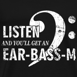 Listen to the bass to the eargasm funny design