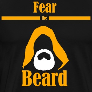 Fear the beard jedi yedi beard hood - Men's Premium T-Shirt