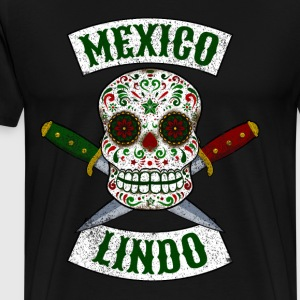 Mexican skull with daggers Mexico cute - Men's Premium T-Shirt