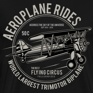 Aeroplane airplane fly flying lifting engine flight - Men's Premium T-Shirt
