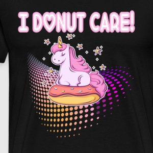I donut care unicorn on donut - Men's Premium T-Shirt
