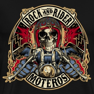 Rock And Rider Moteros Skull Color - Camiseta premium hombre