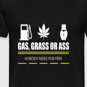 Gas, gras of ezel - Pickup - Mannen Premium T-shirt