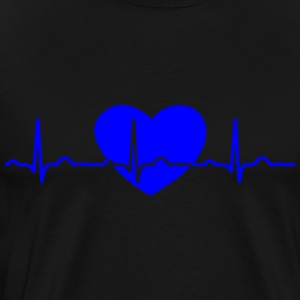 ECG HEARTLINK HEART blue - Men's Premium T-Shirt