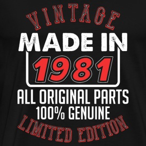 Vintage Made in 1981 - T-shirt Premium Homme