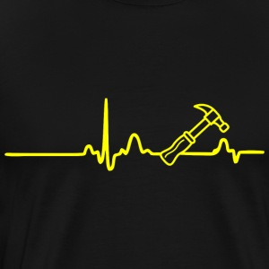 ECG HEADLINK HANDLEBAR yellow - Men's Premium T-Shirt