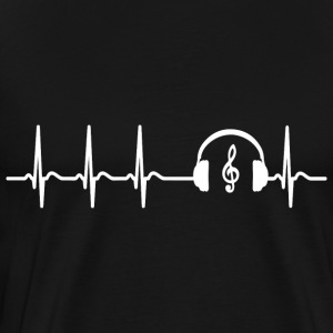 Heart beat music Singer teacher band cool saying - Men's Premium T-Shirt