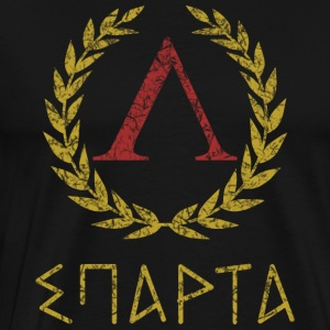 SPARTA IN GREEK - Premium T-skjorte for menn