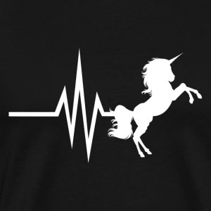 Mit hjerte banker for Unicorns - Unicorn hest - Herre premium T-shirt