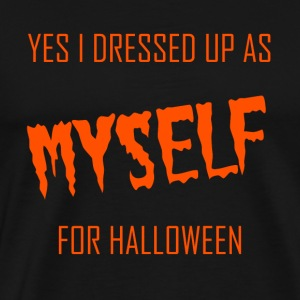 yes i dressed up as myself for halloween - orange - Männer Premium T-Shirt