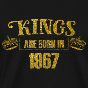 kings are born in 1967 - Geburtstag Koenig Gold - Männer Premium T-Shirt