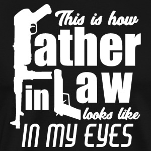 Father in Law Hard job Daddy Pops Kalashnikov - Men's Premium T-Shirt